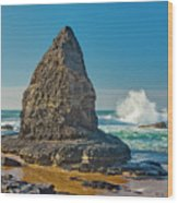 Rock Stack On The Costa Viicentina, Portugal Wood Print