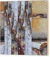 Rock Study 18 Square Wood Print