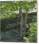 Rock Tunnel Wood Print