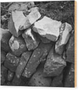 Rock Wall Doolin Ireland Wood Print