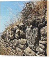 Rock Wall Wood Print