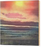 Rockaway Beach Colors Wood Print