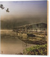 Rockaway Beach Dock 1 Wood Print