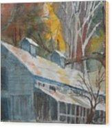 Rockbrook Camp Barn Wood Print