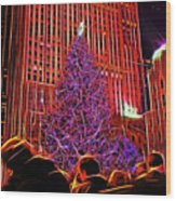 Rockefeller Center Christmas Tree Wood Print