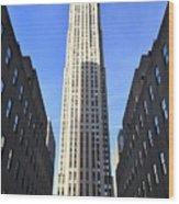 Rockefeller Center New York City Wood Print