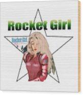 Rocket Girl Wood Print