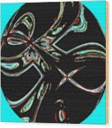 Rocket Man Abstract Wood Print