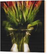 Rocket Propelled Tulips Wood Print