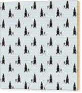 Rocket Scientist Wallpaper Wood Print
