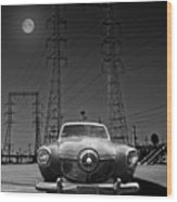 Rocket Ship To The Moon Wood Print