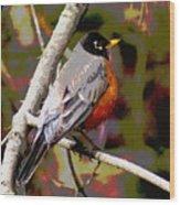Rockin' Robin Wood Print
