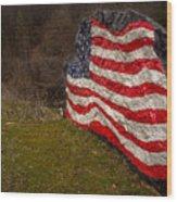 Rockin' The Flag Wood Print