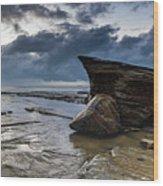 Rockin The Seascape Wood Print