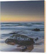 Rockin The Sunrise Seascape Wood Print