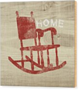 Rocking Chair Home- Art By Linda Woods Wood Print
