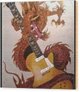 Rocking Dragon Wood Print