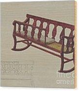 Rocking Settee Cradle Wood Print