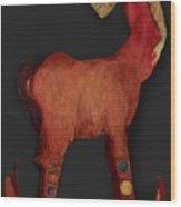 Rockinghorse Woman Wood Print