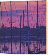 Rockland Sunrise Wood Print