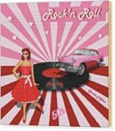Rock'n Roll The Sweet Fifties Wood Print