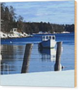 Rockport Blue Wood Print