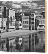 Rockport Coast In Ir Wood Print