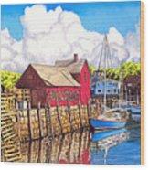 Rockport Cove Wood Print