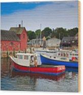 Rockport Harbor 2 Wood Print