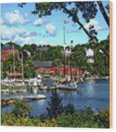 Rockport Harbor Wood Print
