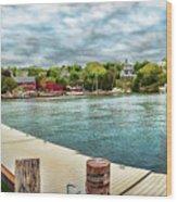 Rockport Inner Harbor Wood Print