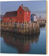 Rockport Ma Fishing Shack - #1 Wood Print