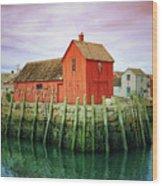 Rockport, Motif No. 1, Fishing Shack Wood Print
