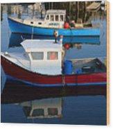 Rockport Reflections Wood Print