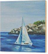 Rockport Sails Wood Print