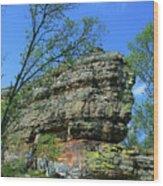 Rocks Along The Roadway Wood Print