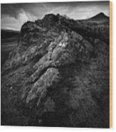 Rocks And Ben More Wood Print