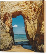 Rocks And Ocean Landscape In Lagos, Wall Art Print, Landscape Art, Poster Decor, Printable Photo Wood Print