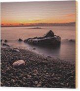 Rocks And Water Wood Print