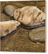 Rocks At Rest Wood Print