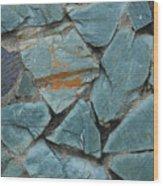 Rocks In A Wall Wood Print
