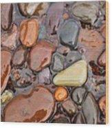 Rocks Of Lake Superior 12 Wood Print