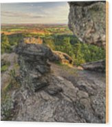 Rocks Of Sharon Overlook Wood Print