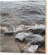 Rocks On The Chesapeake Wood Print