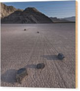 Rocks On The Racetrack Death Valley Wood Print