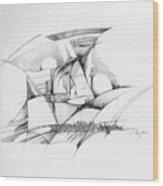 Rockscape 2 Wood Print