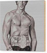 Rocky 3 Wood Print by Michael Mestas