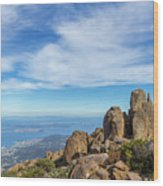 rocky Australian mountain summit Wood Print