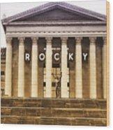Rocky Balboa On The Art Museum Steps Wood Print