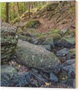 Rocky Brook Wood Print